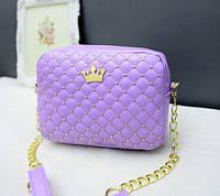 Женская сумочка через плече сиреневая