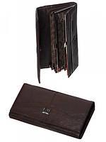 Красивый женский кошелек из кожи темно-коричневый A0001-С
