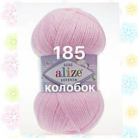Детская пряжа (акрил)   для ручного вязания ŞEKERİM BEBE (шекерим беби) акрил   185 светлая роза