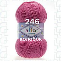 Детская пряжа (акрил)   для ручного вязания ŞEKERİM BEBE (шекерим беби) акрил   246 роза