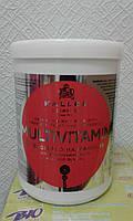 Мультивитаминная маска для волос Kallos (Каллос)с экстрактом женьшеня и маслом авокадо, 1000 мл