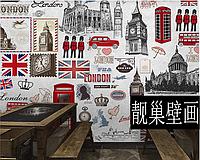 """Стильные фотообои 3D """"Лондон"""""""