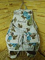 """Рюкзак женский """"Бирюзовые бабочки"""""""