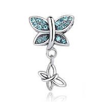 Серебряная подвеска Пандора (Pandora) порхающие бабочки