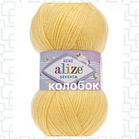 Детская пряжа (акрил)   для ручного вязания ŞEKERİM BEBE (шекерим беби) акрил   187 светло-желтый