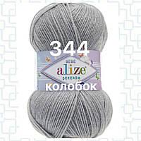 Детская пряжа (акрил) для ручного вязания ŞEKERİM BEBE (шекерим беби) акрил 344 серебряно-серый