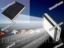 Power Bank Solar 30000mah солнечная батарея + сверх яркая  LED панель в черном цвете., фото 3