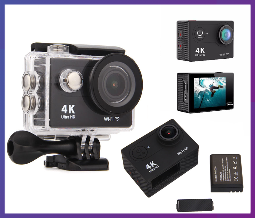 Водонепроницаемая экшен камера Ultra HD 4K/25fps WiFi 1080P. - Интернет магазин Multi-Cent в Одессе