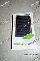 Power Bank Solar 30000mah солнечная батарея + сверх яркая  LED панель в черном цвете., фото 2