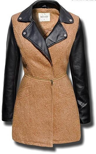 Пальто женское 2в1 пальто+куртка