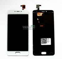 Дисплей (экран) + сенсор (тач скрин) Meizu M3S white (оригинал) (TXD500UYPA-251-1 V.01 home 15mm)