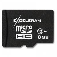 Карта памяти eXceleram 8Gb microSDHC class 10 без адаптера (MSD0810VA).
