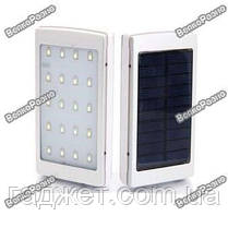 Power Bank Solar 50000mah солнечная батарея + сверх яркая LED панель серого цвета, фото 3