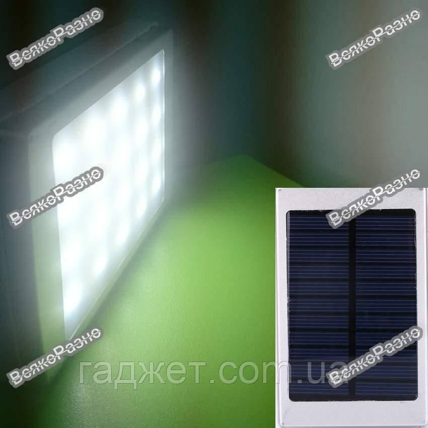 Power Bank Solar 50000mah солнечная батарея + сверх яркая LED панель серого цвета