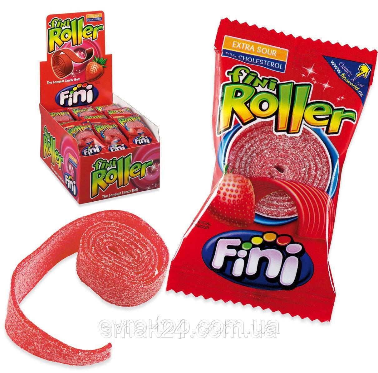 Желейні цукерки Fini Roller (полуниця) Іспанія 20г