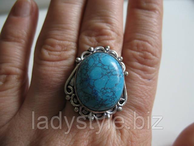 купить украшения бижутерию кольцо перстень с бирюзой