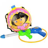 Водяной автомат M 3537 Даша, помпа, 41см, с баллоном на плечи, в кульке, 35-50-10см