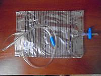 """Мочеприёмник """"ALEXPHARM"""", 2000 мл. со сливным Т-образным клапаном, стерильный"""