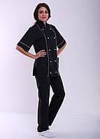 Поварской костюм черный