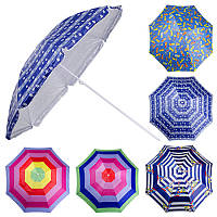 Зонт пляжный d2.0мсеребро MH-0039