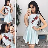 Нежное стильное женское платье из хлопка