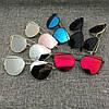 Солнцезащитные очки кошачий глаз зеркальные Диор