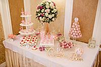Свадебный Кенди бар в  розовом  цвете (под ключ) на 50 чел