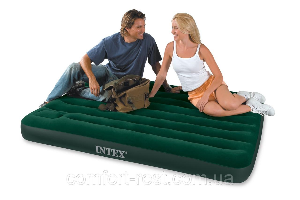 Кровать-матрас Intex 66928 туристическая полуторная  (137х191х22 см.), фото 1