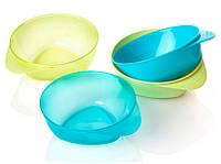 Тарелки глубокие, набор из 4 штук, голубые и зеленые, Tommee Tippee