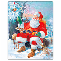 Пазл Larsen из серии Макси Дед Мороз в лесу 32 элемента (JUL7)