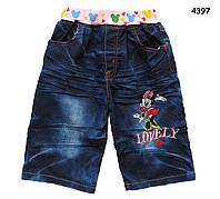 Джинсовые шорты Minnie Mouse для девочки. 130 см