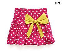 Летняя юбка для девочки. 1-2;  6-7 лет