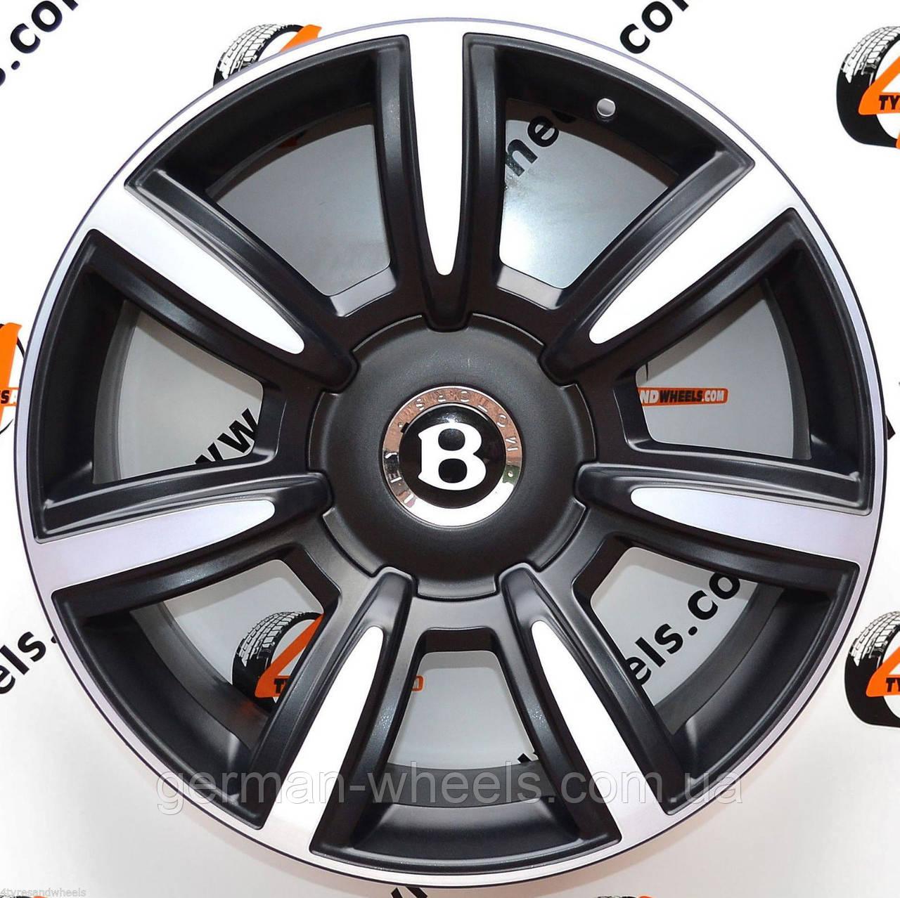 Диски новые оригинальные Bentley CONTINENTAL GT FLYING SPUR кованые (FORGED), эксклюзивный цвет - черный мат.