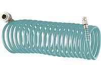 Полиуретановый спиральный шланг профессиональный BASF, 10 м, с быстросъемными соединителями// Stels