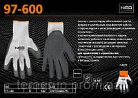 "Перчатки с односторонним латексом 10"", NEO 97-600"