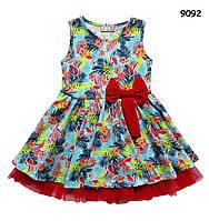 """Летнее платье """"Фламинго"""" для девочки. 1-2 года"""