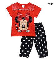 Летний костюм Minnie Mouse для девочки. 86, 92 см