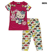 Летний костюм Hello Kitty для девочки. 5, 8 лет