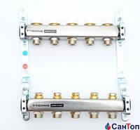 Коллектор Tiemme 1x3/4  на 4 контура с механическим регулировочным винтом