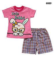 "Летний костюм ""Кролик"" для девочки. 62, 68 см, фото 1"