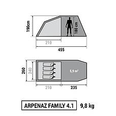 Палатка Arpenaz Family 4.1 Quechua, фото 2