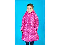 Куртки Зіронька, малиновий, горошок, Размер 110