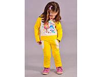 Спортивний костюм для дівчат Fixi sport, молочно-жовтий, Размер 110