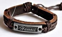 Браслеты кожаные СБ710-8 Браслет коричневый