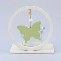 Подсвечник с бабочкой зеленый ZS1001