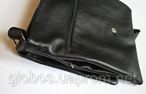 Сумка мужская через плечо кожаная формат А4 Aesthetics guide 03-13 чёрная, фото 2