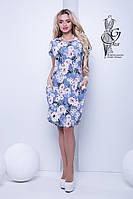Женские летние платья большого размера Лонда-5 вискоза