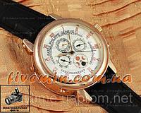 Мужские наручные часы Patek Philippe Sky Moon Tourbillon Gold White отличное качество Патек Филип