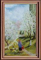 Бабушкины вишни. Холст. Масло. 55х80