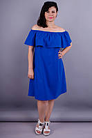 Бали. Оригинальное платье для женщин с пышными формами. Электрик.
